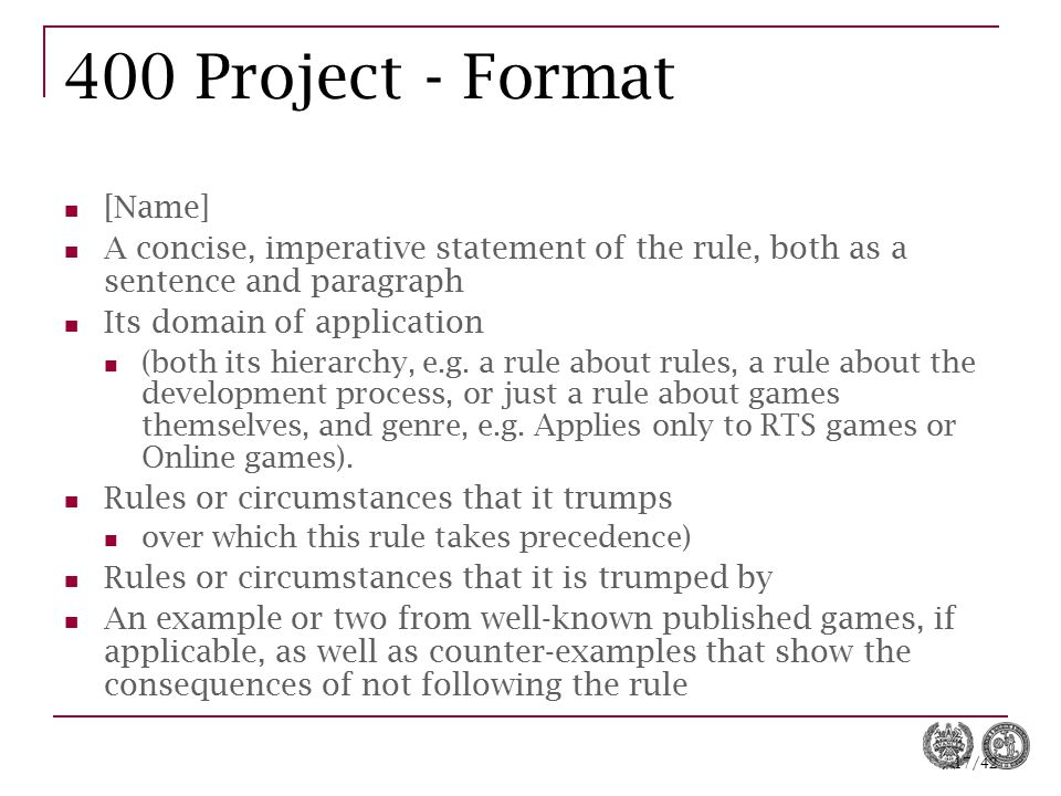 400 Project - Format [Name]